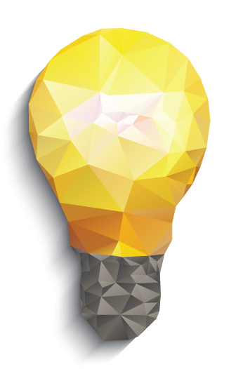 Polygon light bulb